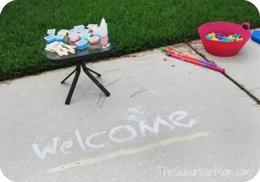 Homemade Sidewalk-chalk-paint