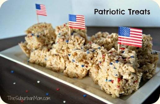 Patriotic Rice Krispies Treats