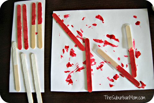 Popsicle Stick Craft Painting