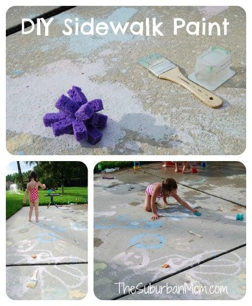 Homemade Sidewalk Chalk Paint Kids Craft