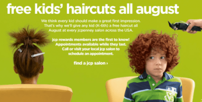 Free Back to School Kids Haircuts