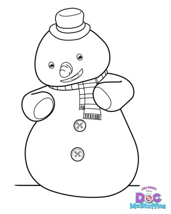 Doc McStuffins Coloring Page Snowman Chilly