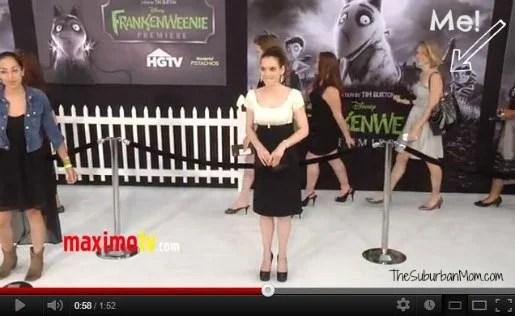 Frankenweenie Winona Ryder White Carpet Premiere