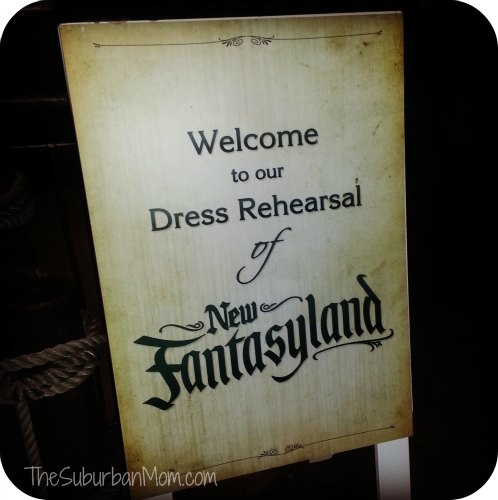 New FantasyLand Dress Rehearsal Magic Kingdom Walt Disney World