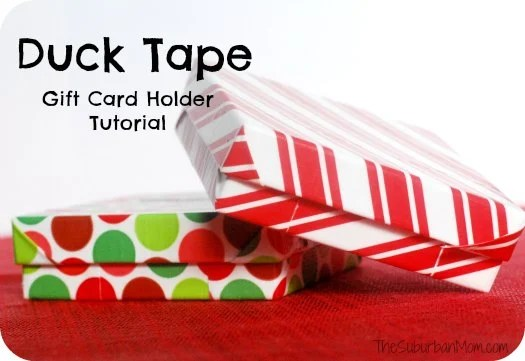 Duck Duct Tape Gift Card Holder Tutorial Craft