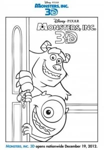 See Monsters, Inc. In Theaters In 3D + Activity Pages