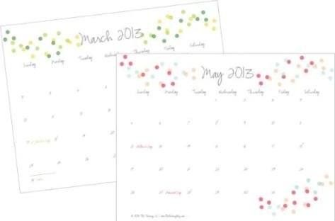 Free 2013 Printable Calendar The Twinery Blog
