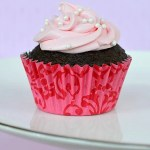 Pink Cool Whip Frosting Chocolate Cupcake