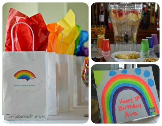 Rainbow Birthday Party Favors