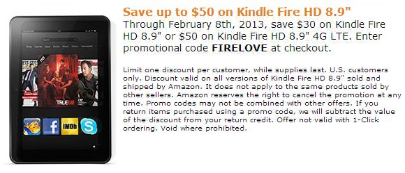 Save 50 Kindle Fire Amazon