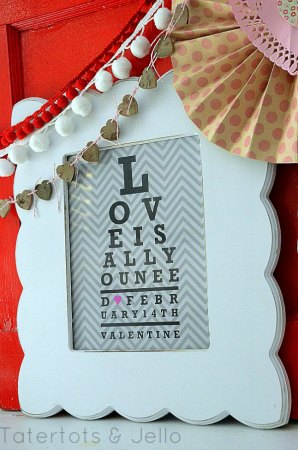 Valentine's Day Free Printable Eye Chart Love