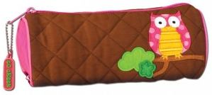 Stephen Joesph Owl Quilted Pencil Case