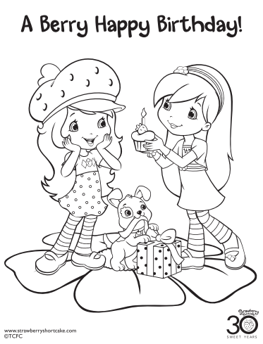 12 Strawberry Shortcake Birthday Party Printable Coloring Pages Thesuburbanmom