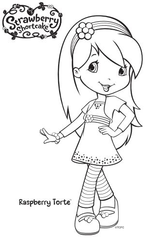 Strawberry Shortcake Raspberry Torte Coloring Page