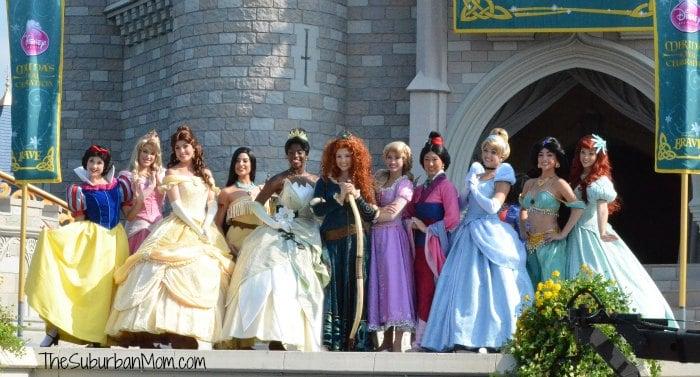 Disney Princesses Snow White Aurora Belle Pocahontas Tiana Merida Rapunzel Mulan Cinderella Jasmine Ariel