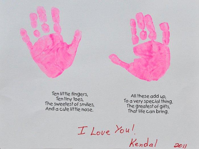 Last Minute Mothers Day Handprint Craft TheSuburbanMom