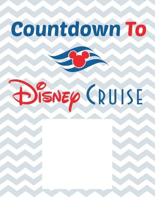 Disney Cruise Countdown Printable Free