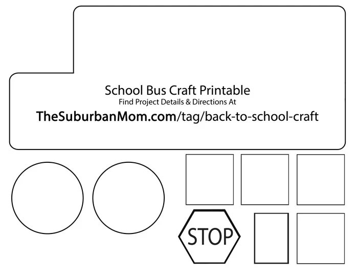 graphic regarding School Bus Printable identified as Back again In direction of Faculty: Faculty Bus Countdown Youngsters Craft - TheSuburbanMom
