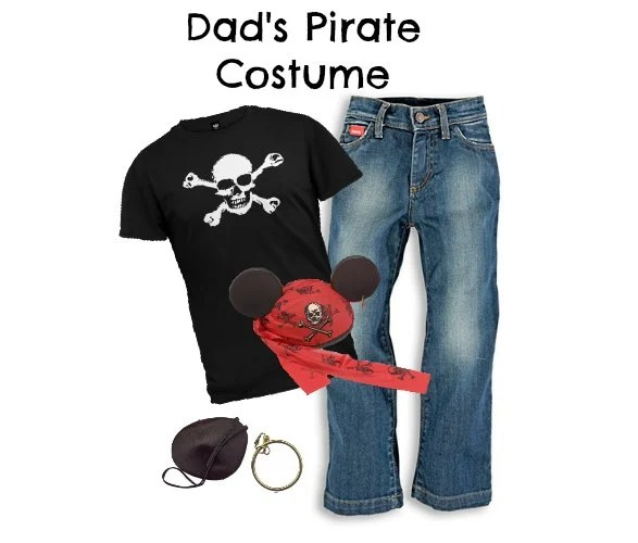 DIY Men's Pirate Costume Disney Cruise