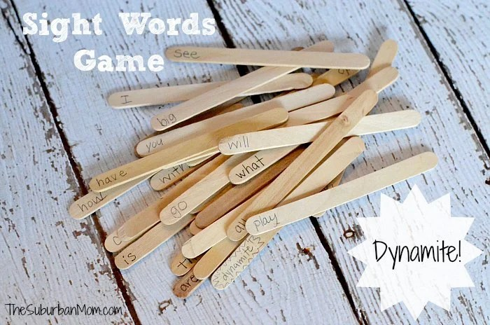 Sight Words Game - Dynamite