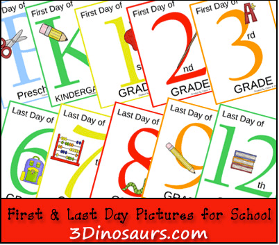 First Day of School Signs Free Printable 6