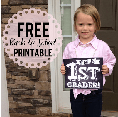 First Day of School Signs Free Printable 8