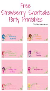 Free Strawberry Shortcake Party Printables
