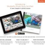 Shutterfly Photo Story iPad App for photo books