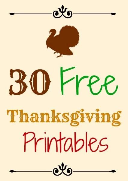 30 Free Thanksgiving Printables The Suburban Mom