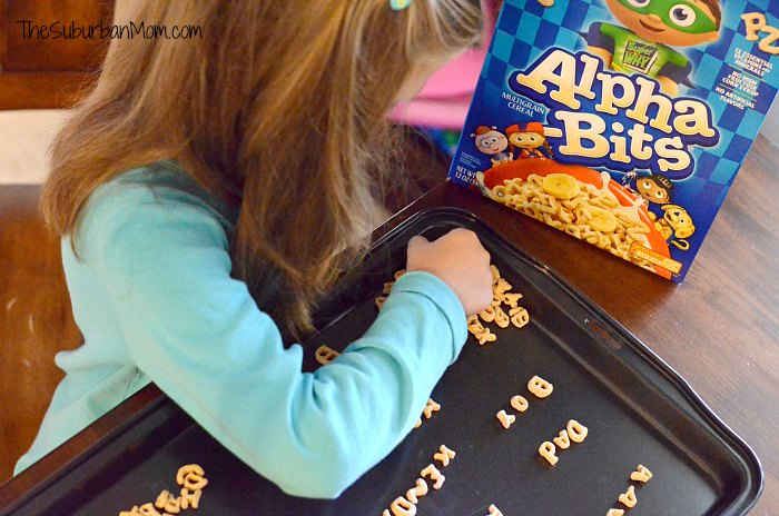 Alpha Bits Letters Spelling