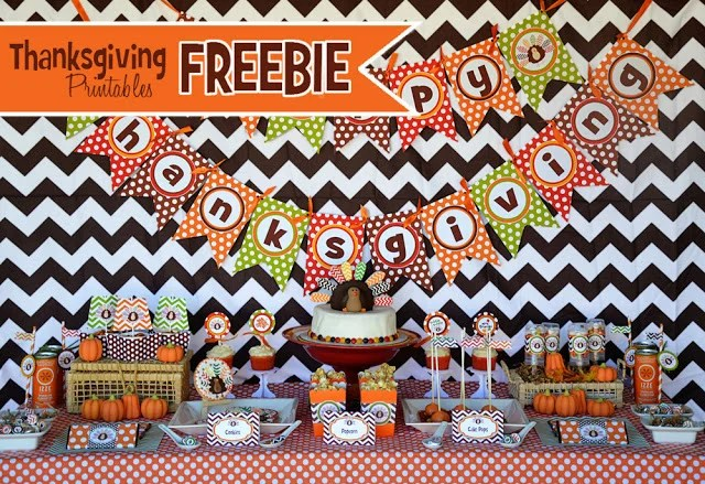 Free Thanksgiving Printable Set