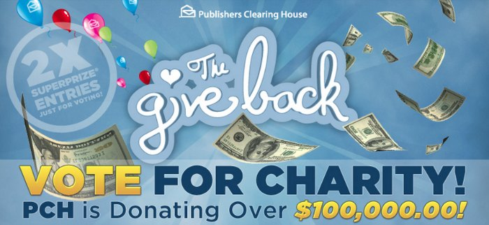 Publishers Clearing House Give Back