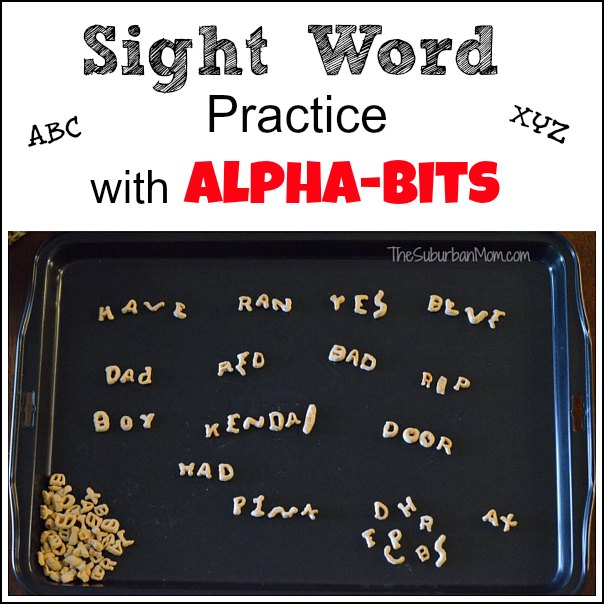 Sight Word Practice Alpha Bits