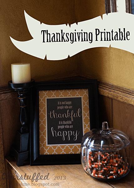 Thanksgiving Free Printable Sign 8
