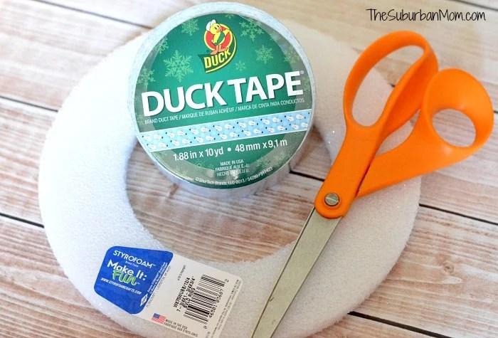 Duck Tape Wreath Craft