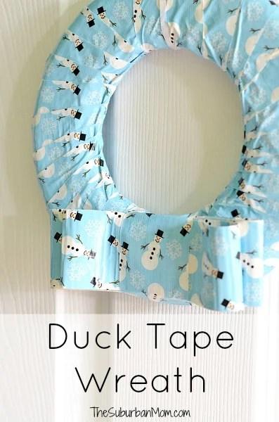 Duck Tape Wreath Tutorial