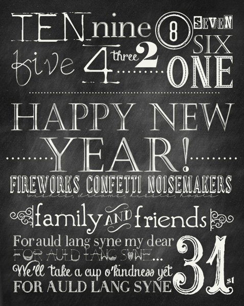10 New Years Eve Free Printables