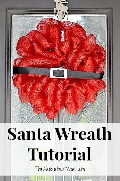 Santa Christmas Wreath Tutorial