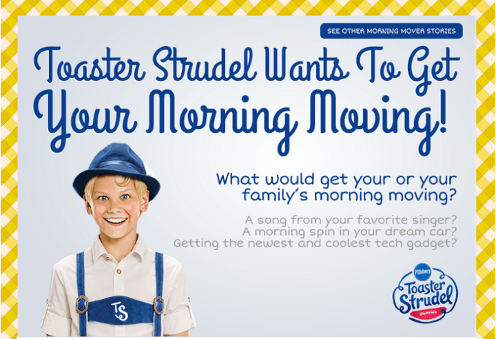 Toaster Strudel Morning Mover