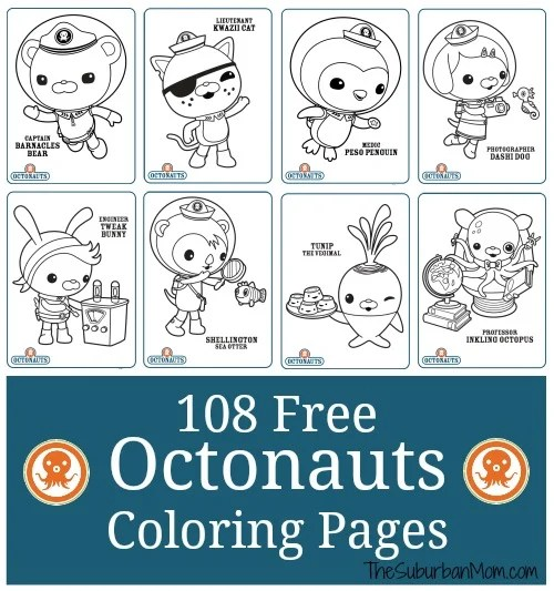 photograph regarding Octonauts Printable called 108 Absolutely free Octonauts Printable Coloring Internet pages - TheSuburbanMom