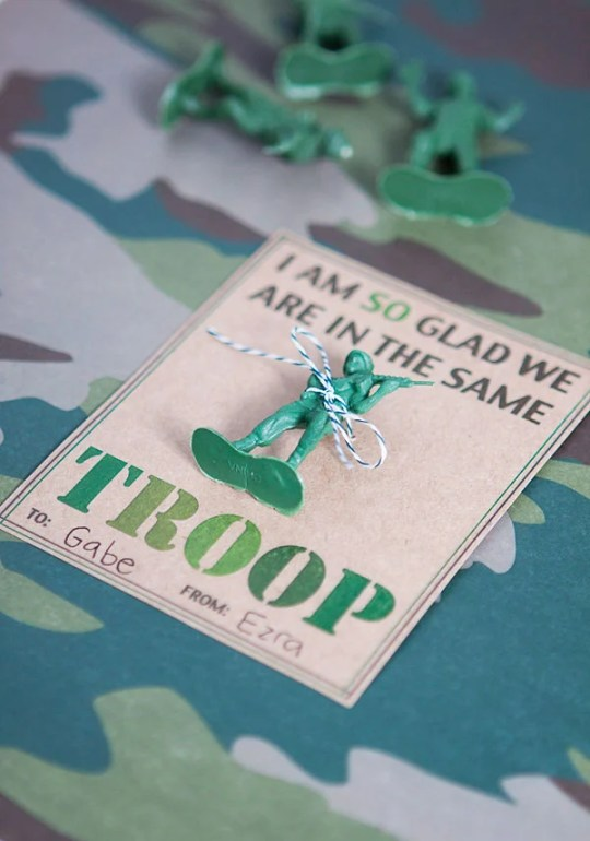 Army Valentine's Day Printable Card
