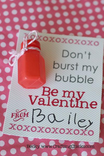 Dont Burst My Bubble Valentine