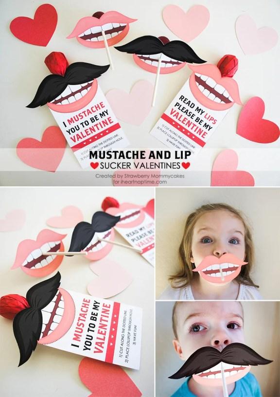 Mustache Valentines Printable