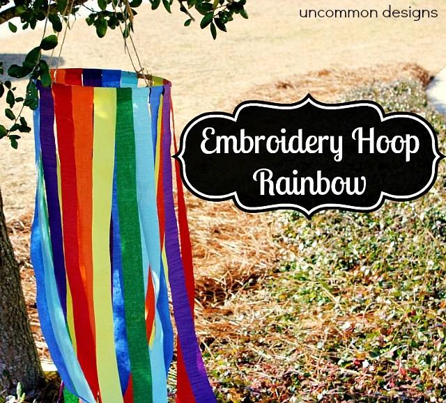 Embroidery Hoop Rainbow
