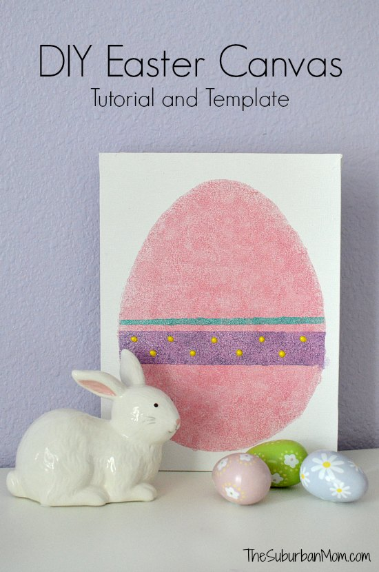 DIY Easter Canvas Tutorial Template