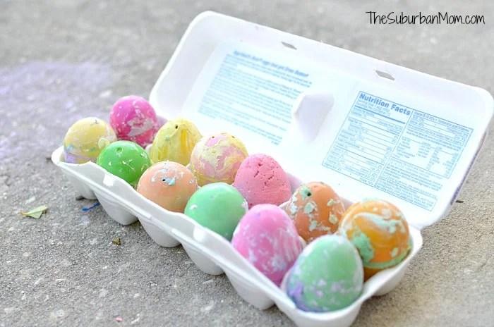 DIY Sidewalk Chalk Easter Eggs Tutorial