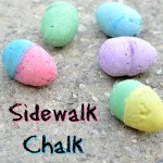 DIY Sidewalk Chalk Eggs