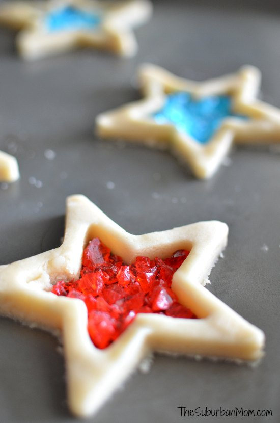 Candy Filled 4th of July Star Cookies