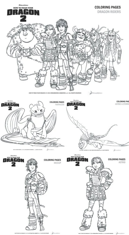 How To Train Your Dragon 2 Printable Coloring Pages + $25