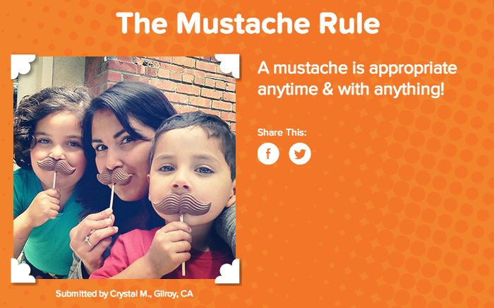 Popsicle Kid Rules Mustache